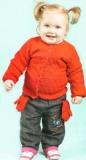 Красный жакет и варежки для девочки 1.5 - 2 года