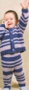 Детский вязаный полосатый костюм