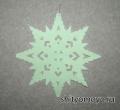 Новогодние поделки своими руками: снежинка из бумаги 9 - распечатай и вырежь