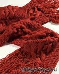 Красный шарф, связанный спицами. Описание бесплатно
