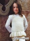 Детская безрукавка, связанная спицами. Описание и схемы бесплатно