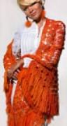 Оранжевая шаль, связанная крючком-1