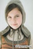 Детский капор, связанный спицами