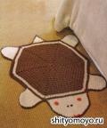 Детский коврик-черепашка, связанный крючком. Описание и схемы бесплатно