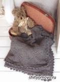 Детское шерстяное одеяло, связанное спицами. Описание и схемы бесплатно