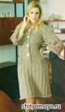 Женское платье, связанное спицами. Описание модели бесплатно