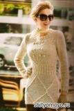 Мини-платье, связанное спицами. Описание и схемы бесплатно