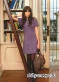 Платье Cambridge, связанное спицами. Описание и схемы вязания бесплатно