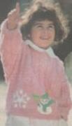 Детский пуловер, связанный спицами