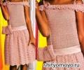Нарядное платье для девочки, связанное крючком. Описание и схемы вязания бесплатно