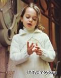 Детское болеро  для девочки, связанное спицами