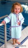 Детский халат Teddy, связанный спицами. Описание и выкройка бесплатно