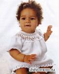 Летнее детское платье, связанное крючком. Описание и схемы вязания бесплатно