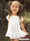 Детское платье, связанное крючком. Описание и схемы вязания бесплатно