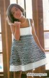 Детское летнее платье, связанное крючком. Описание и схемы вязания бесплатно