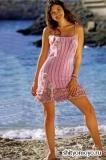 Розовое платье, связанное крючком. Описание и схемы вязания бесплатно