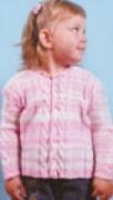 Детский вязаный жакет в полоску