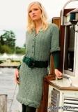 Зеленое платье, связанное спицами. Описание вязания бесплатно