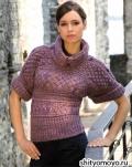 Пуловер в ирландском стиле, связанный спицами. Описание и выкройка бесплатно