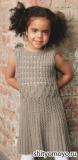 Ажурное детское платье, связанное спицами. Описание и схемы вязания бесплатно