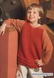 Пуловер с капюшоном для мальчика, связанный спицами. Описание и выкройка бесплатно
