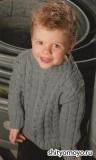 Детский пуловер, связанный спицами. Описание и схемы вязания бесплатно