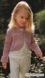 Детское болеро, связанное спицами. Описание и схемы вязания бесплатно