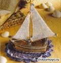 Поделки своими руками: кораблик, связанный крючком. Описание и схемы вязания бесплатно