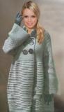 Пальто, связанное спицами. Описание и выкройка бесплатно