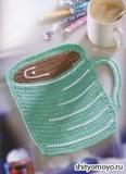 Прихватка чашечка кофе, связанная крючком. Описание вязания бесплатно