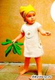 Детское платье, связанное спицами. Описание и схемы вязания бесплатно