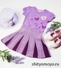 Детская юбка-плиссе крючком