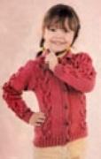 Детский жакет с «шишечками», связанный спицами