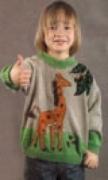 Детский пуловер с орнаментом