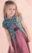 Детский меланжевый жакет, связанный спицами