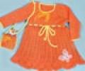 Детское вязаное платье и сумочка