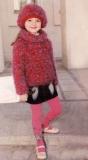 Детский меланжевый свитер, связанный спицами