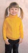 Детский свитер «Солнышко», связанный спицами