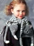 Детский шарф Кот