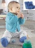 Кардиган с карманами спицами для малыша