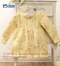 Желтое платье спицами для девочки