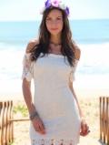 Выкройка летнего платья с оголенными плечами