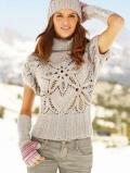 Пуловер с узором Пряный цветок