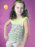 Детский топ с ажурными полосками спицами