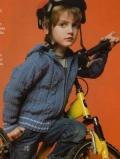 Детская кофта для мальчика спицами с капюшоном