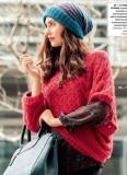 Пуловер-пончо и шапочка спицами