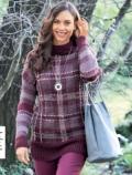 Пуловер с жаккардовым узором спицами