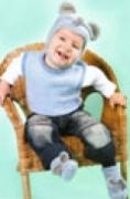Комплект Мышонок - детская шапочка и пинетки
