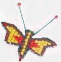 Поделки своими руками: животные из бисера - бабочка. Схемы. Для начинающих.