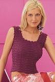 Ажурная женская кофточка, связанная спицами